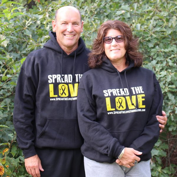 Black Spread the Love Hoodie