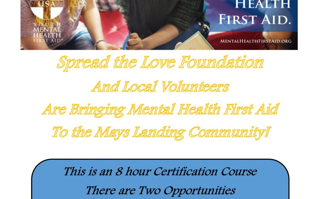 Youth Mental Health and First Aid Certification Course